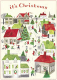 Christmas Village Gift Wrap/Poster