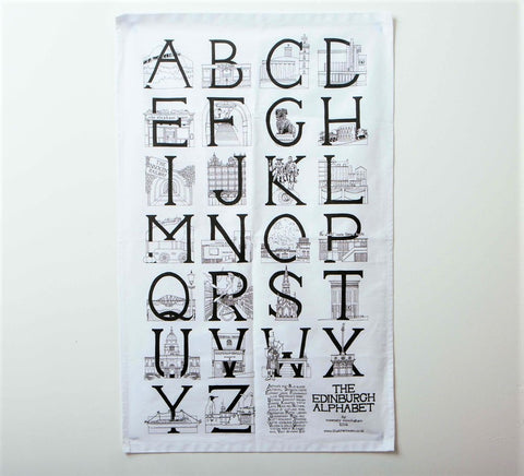 Edinburgh Alphabet Tea Towel