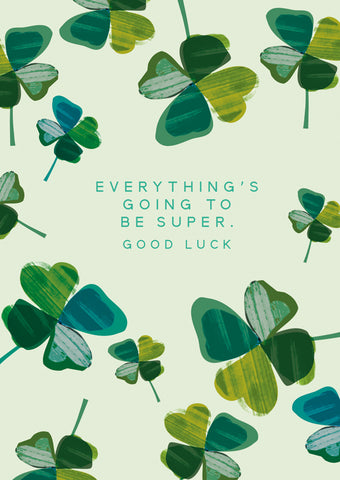 Inspiring Good Luck Card