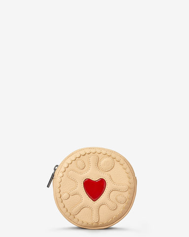 Jammie Dodger Biscuit Zip Top Leather Purse