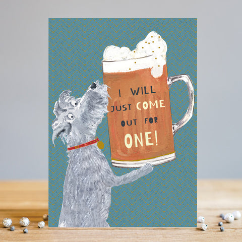 Funny Doggy Beer Card