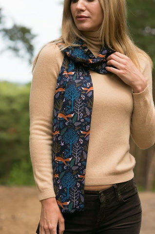 Foxes Print Multi Scarf