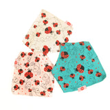 Ladybirds Cream Print Dribble Bib