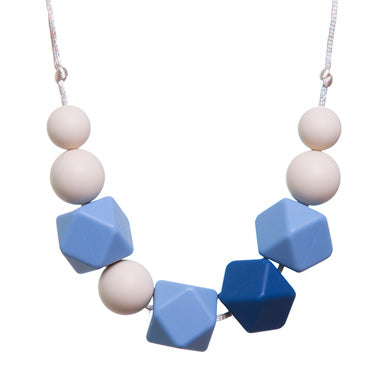 Lucy Blue & Cream Teething Necklace