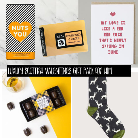 Luxury Scottish Valentines Gift Pack For Him