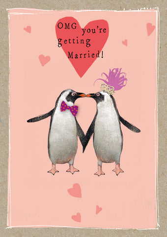 Cute Penguins Engagement Card