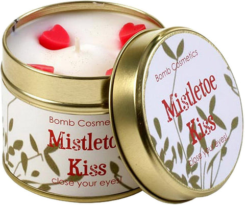 Mistletoe Kiss Scented Tin Candle