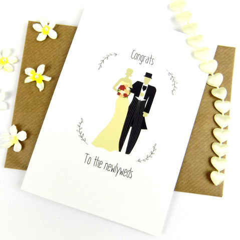 Congrats To The Newlyweds card