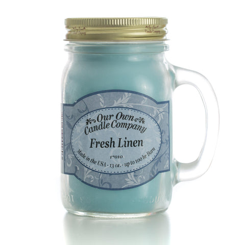 Fresh Linen Large Mason Jar Candle