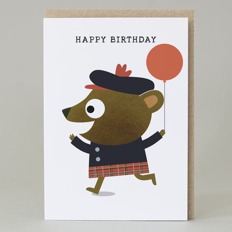 Piper Bear Happy Birthday Card
