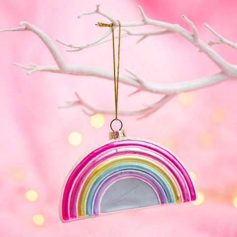 PASTEL RAINBOW SHAPED BAUBLE