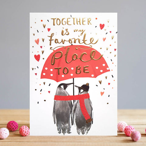 Penguins Together Love Card