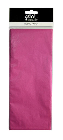 Hot Pink Plain Tissue Paper Pack