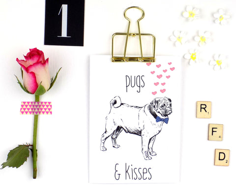 Pugs & Kisses card