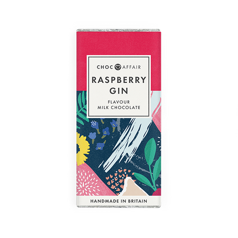 Raspberry Gin Flavoured Milk Chocolate Bar