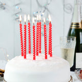 Red Party Candles (pack Of 10)