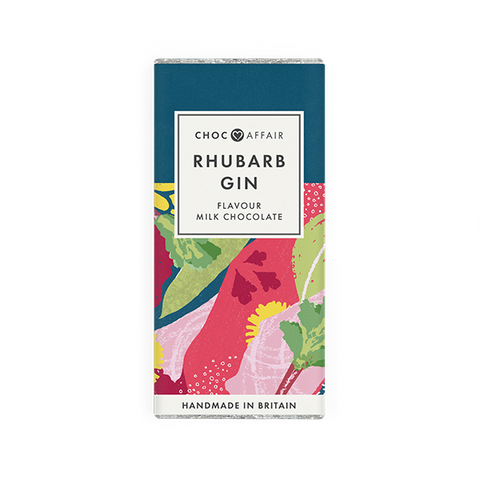 Rhubarb Gin Flavoured Milk Chocolate Bar