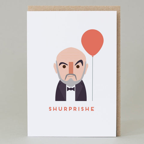 """Shurprishe"" Funny Scottish Sean Connery Birthday Card"