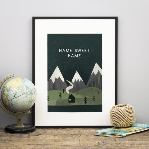 'Hame Sweet Hame' Scottish Print