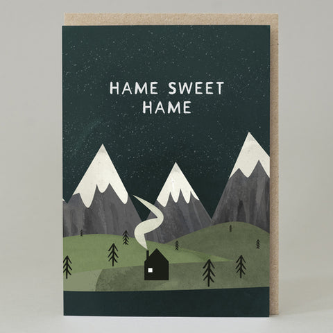 'Hame Sweet Hame' mountain Card