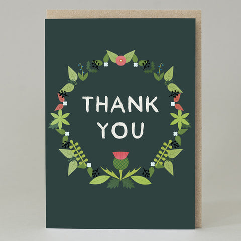 Wreath 'Thank You' Card