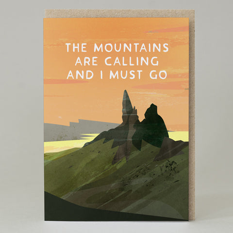 'The mountains are calling' Card