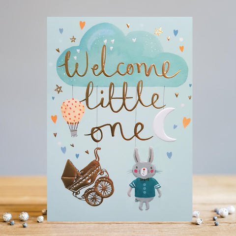 Welcome Little One, New Baby Boy Card