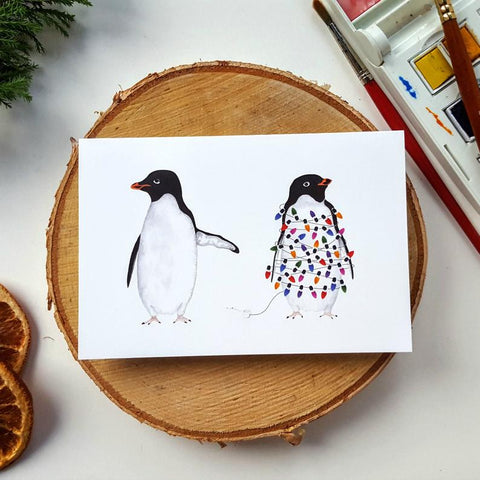 Silly Penguins Christmas Card