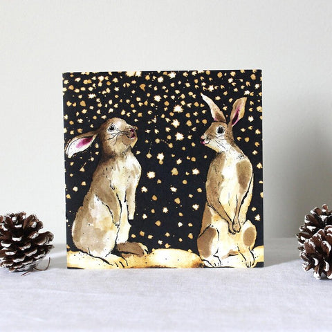 Snow Bunnies Pack of 5 Cards by Anna Wright
