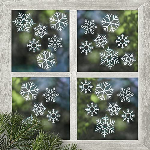 SNOWFLAKE CHRISTMAS WINDOW STICKERS