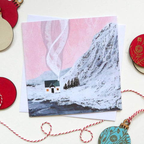 Snowy Lodge Christmas Card
