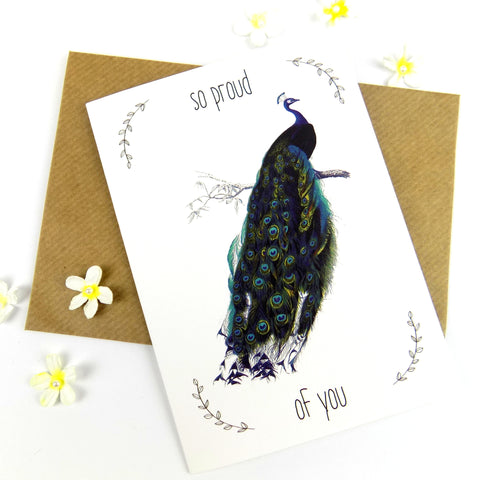 So Proud Of You (Peacock) card