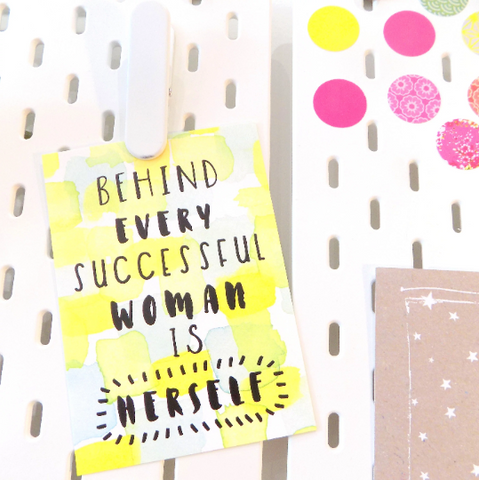 Behind Every Successful Woman is Herself Postcard