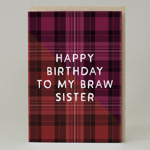 """Braw Sister"" Birthday Card"