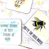 You're the Bees Knees Bee Print Coaster