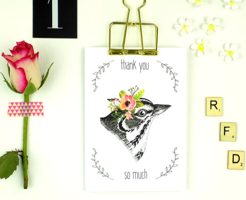 Thank You So Much (Bird) card