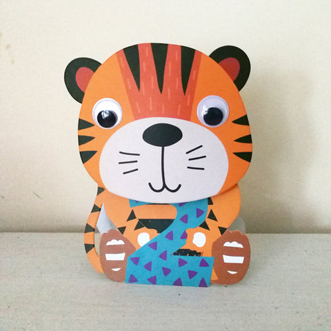 Tiger 2nd Birthday Wobbly Head Card