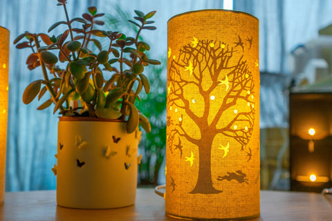 Tree of Life Fabric Silhouette Lamp