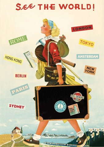 See the World Vintage Style Travel Poster