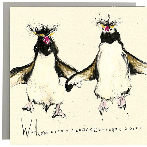 Wahoo Penguins Greeting Card
