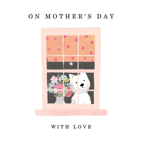 Cute Westie Mothers Day Card