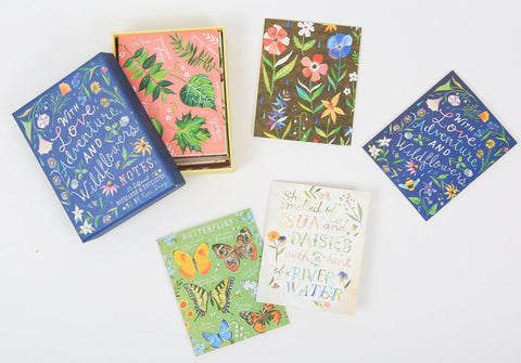 WITH LOVE ADVENTURE AND WILDFLOWERS NOTES, SET OF 20 CARDS
