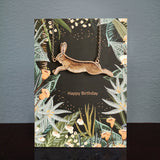 Hare Birthday Card & Wooden Necklace