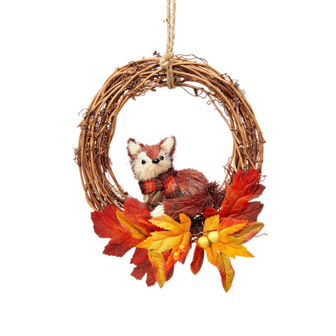 WOODLAND WREATH WITH FOX