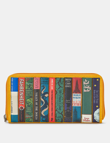 Bookworm Yellow Leather Baxter Purse