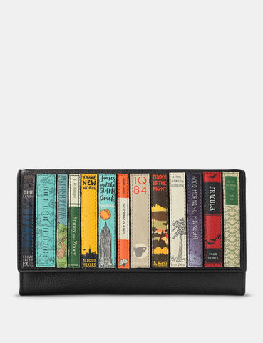 Bookworm Black Leather Hudson Purse