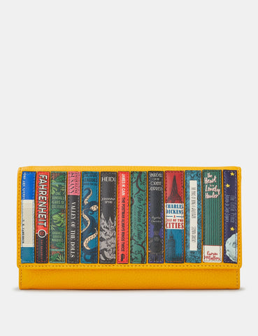 Bookworm Yellow Leather Hudson Purse