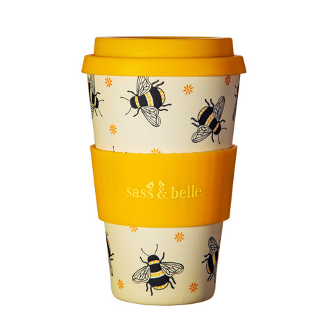 BUSY BEES BAMBOO COFFEE TRAVEL CUP