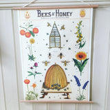 Bees & Honey Print Poster
