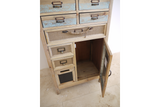 Tall Apothecary Style Storage Cabinet